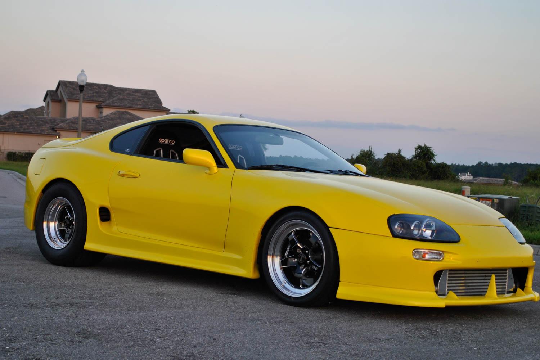 Yellow Toyota Supra - Weld S71 Wheels