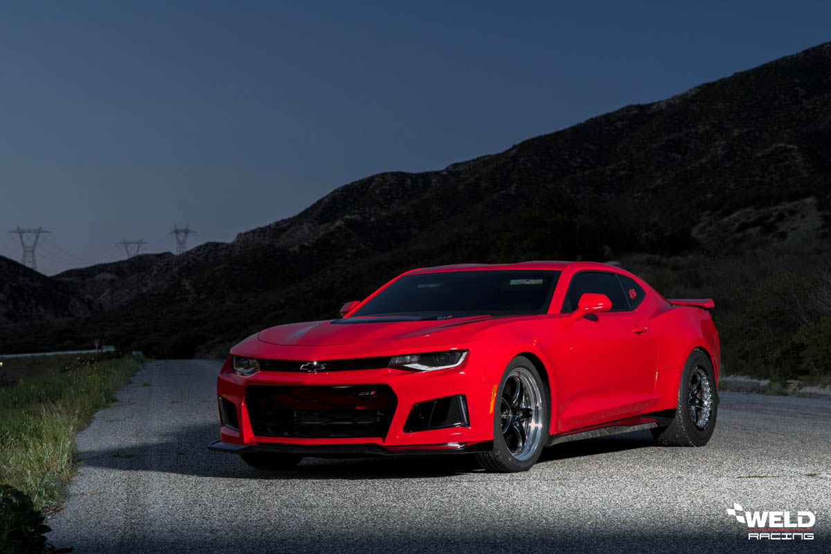 Red Chevrolet Camaro ZL1 - WELD S71 Forged Wheels