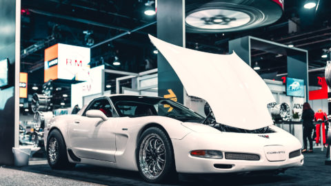 White Corvette C5 - WELD S72 Beadlock Forged Wheels