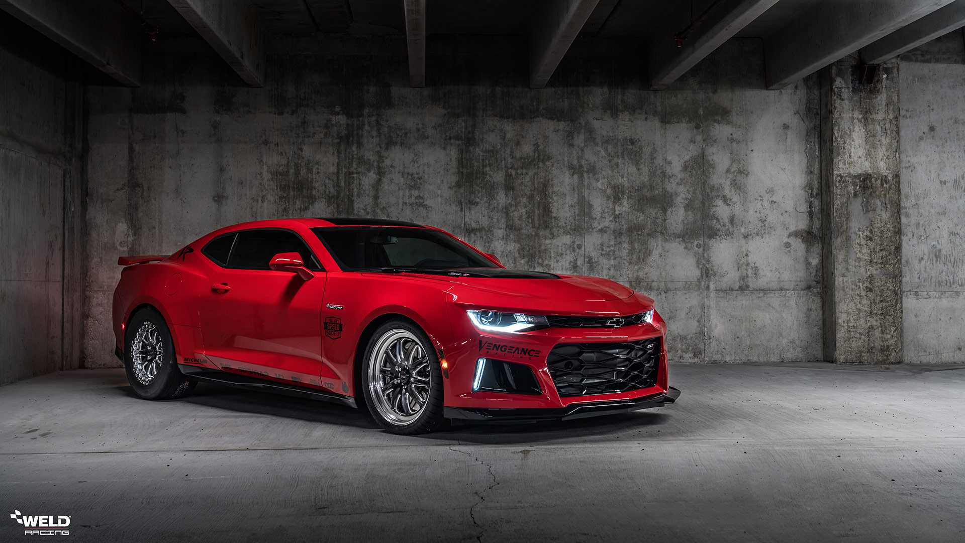 Red Hot Chevrolet Camaro SS - WELD RT-S S72 Forged Wheels