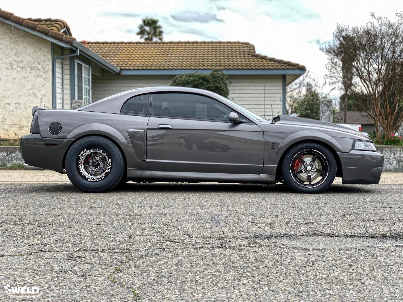 Matte Black Ford Mustang 2003 Cobra Terminator - Weld S71 Wheels