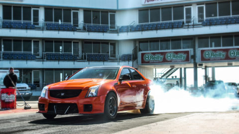 Fire Orange Cadillac CTS-V - Weld S71 Three-Piece Forged Wheels