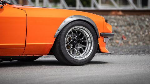 Fire Orange 1972 Datsun 240Z - WELD S77 Forged Wheels