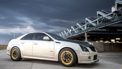White 2nd Generation Cadillac CTS-V - Weld S77 Forged Wheels