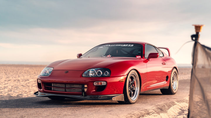 Renaissance Red Toyota Supra Turbo - WELD S71 Forged Wheels