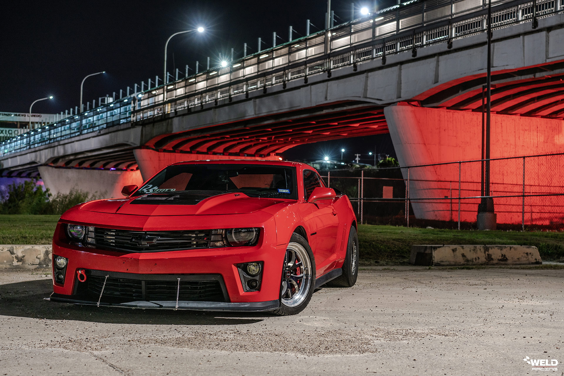 Victory Red Chevrolet Camaro ZL1 - WELD S76 Forged Wheels