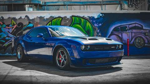 Blue Dodge Challenger SRT Redeye Hellcat - WELD Alumastar & Weld S71 Wheels