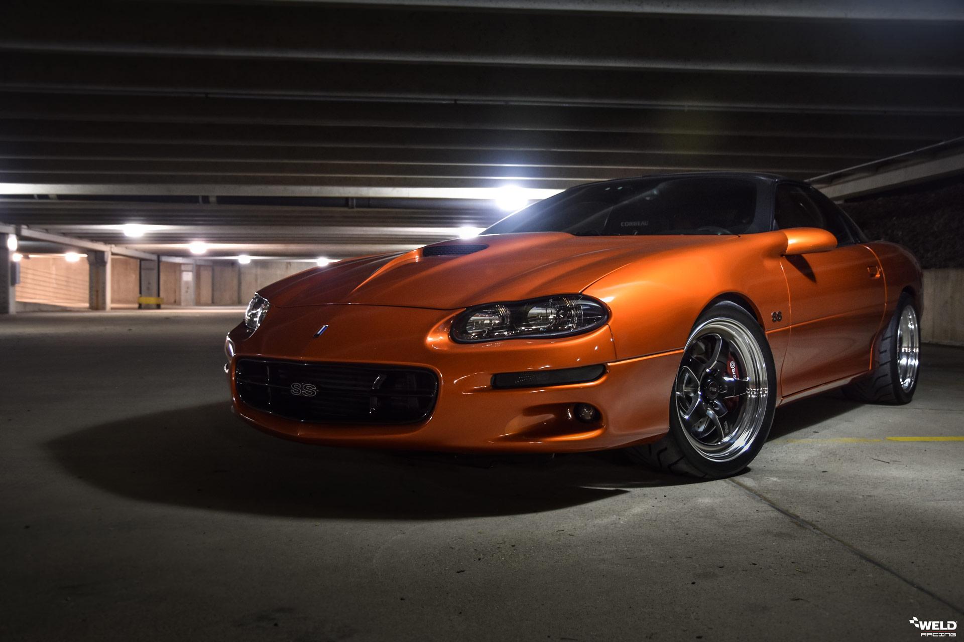 Sunburst Orange Chevrolet Camaro SS - WELD S71 Forged Wheels