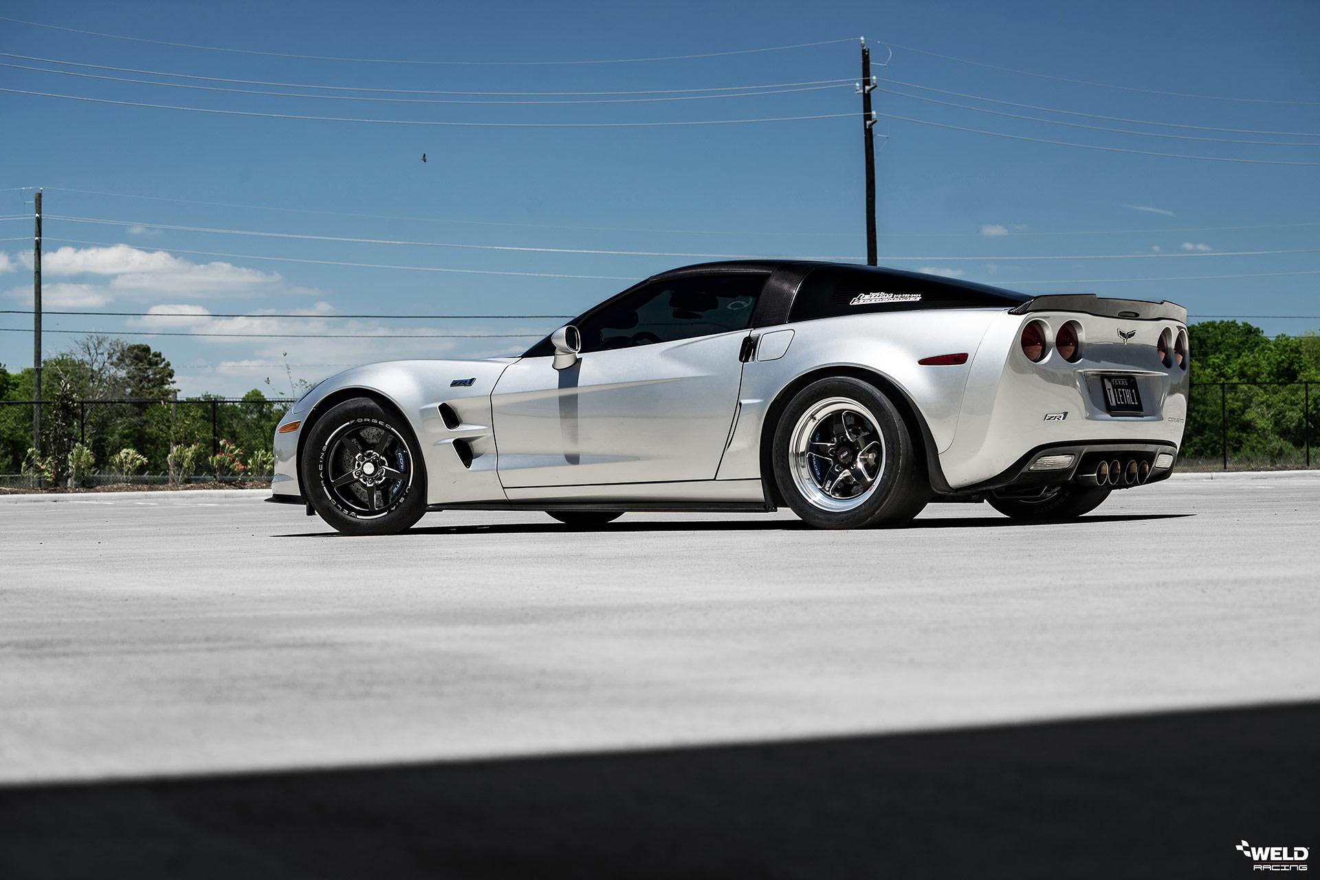 Silver Chevrolet C6 ZR1 Corvette - WELD S71 & WELD Alumastar Wheels