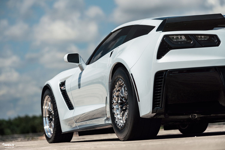 Ceramic Matrix Gray Metallic C7 Z06 Corvette - WELD S72 Beadlock Wheels