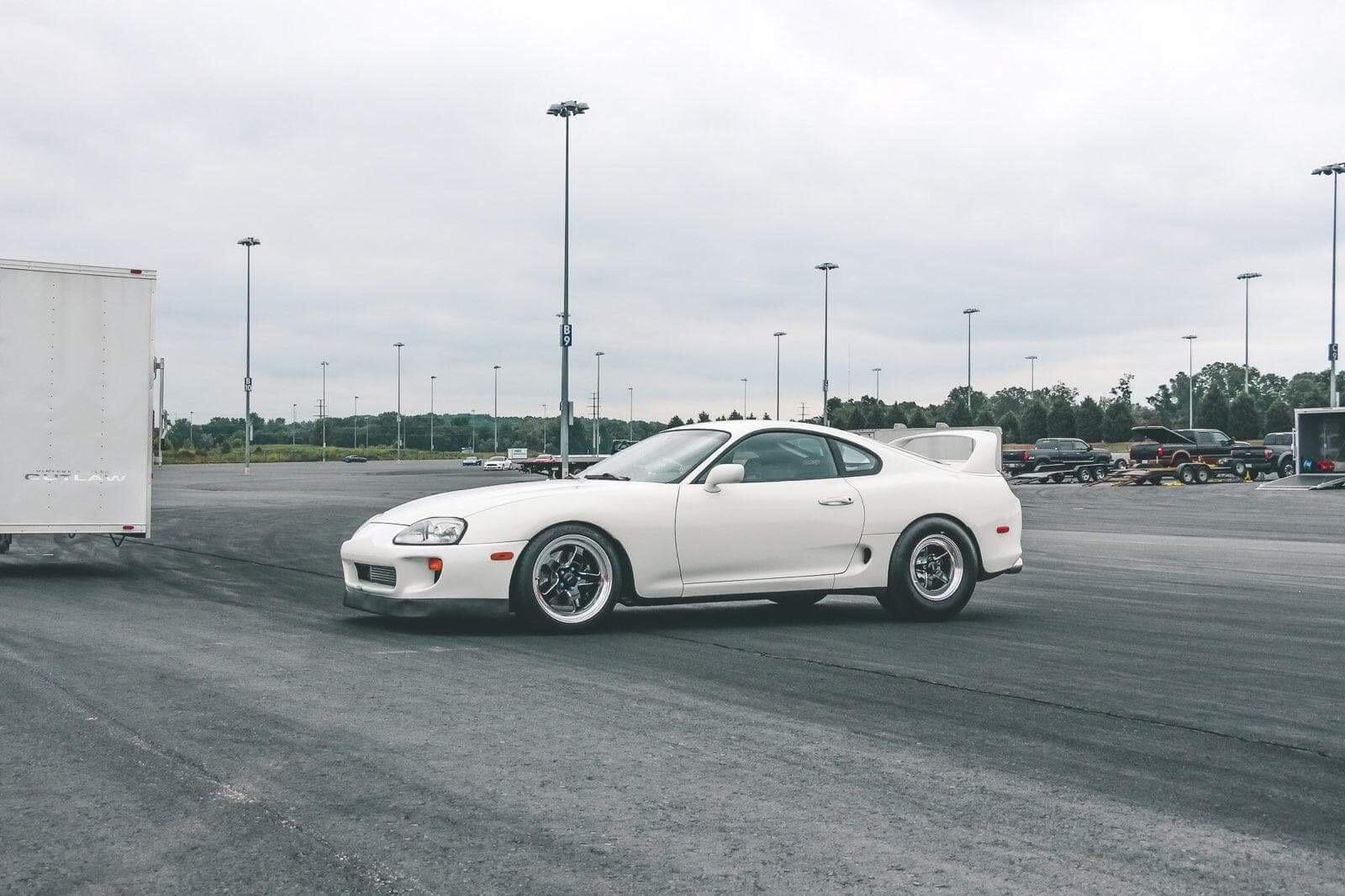 White Toyota Supra MKIV Turbo - WELD S71 Wheels