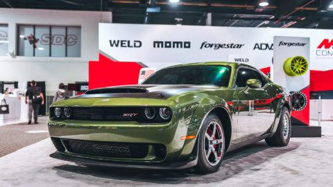 Bill Goldberg's Green Dodge Challenger Demon - WELD S71 x Alumastar Wheels