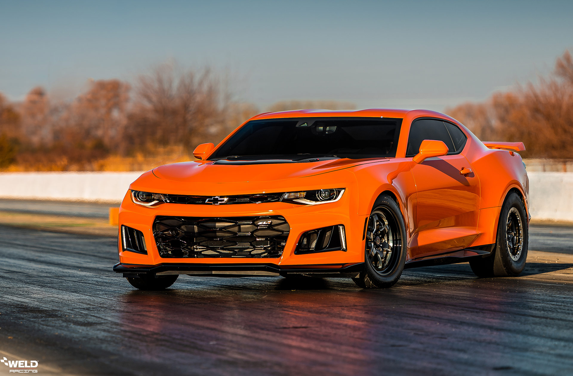Orange Street Car Take Over Chevrolet Camaro ZL1 - WELD S79 Wheels