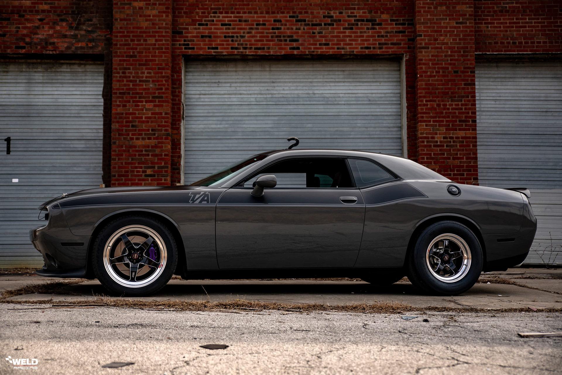 Gray Dodge Challenger TA - WELD S71 Three-Piece Forged Wheels